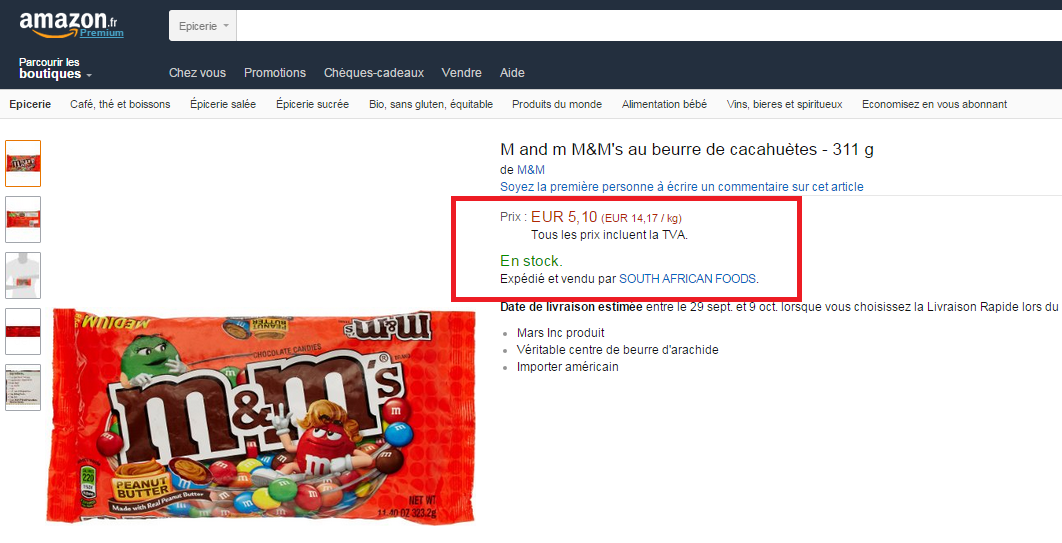 Amazon Epicerie en France? Carton Rouge Amazon !