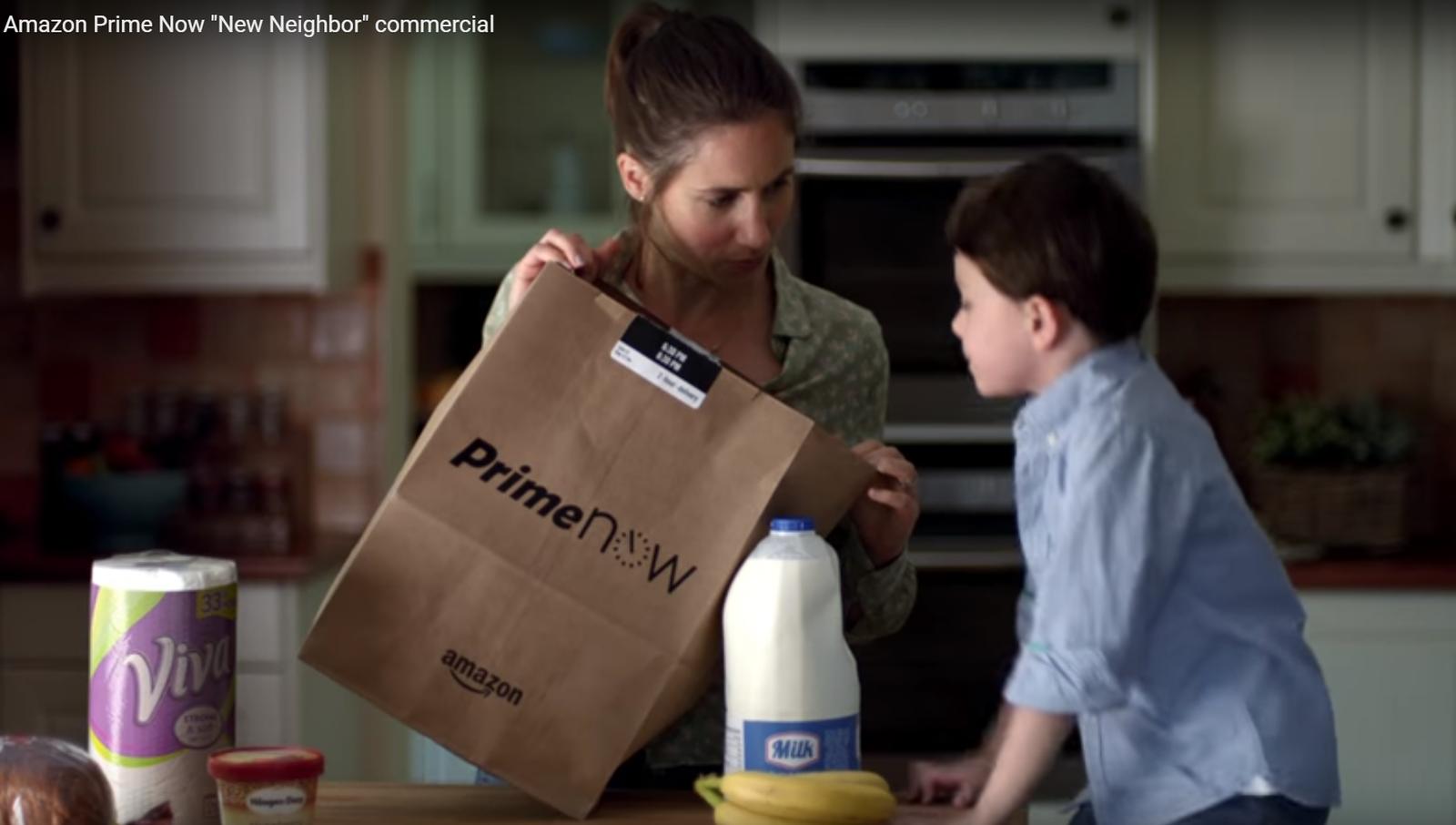 Amazon Prime Now créateur de lien : En plus Amazon sait faire de la pub émotionnelle.