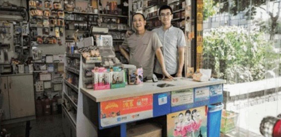le magasin Weijun avant .....