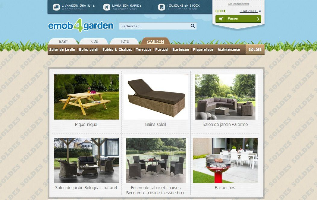 Site internet mobilier de jardin for Site de mobilier design
