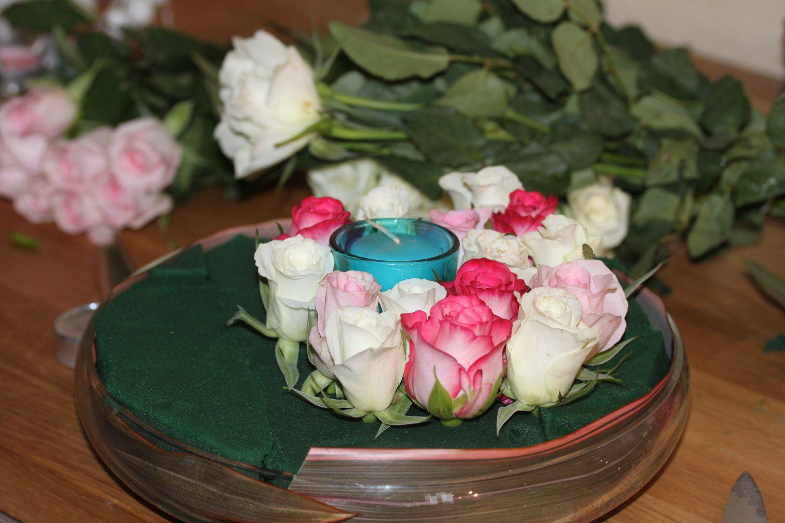 Un coussin de roses