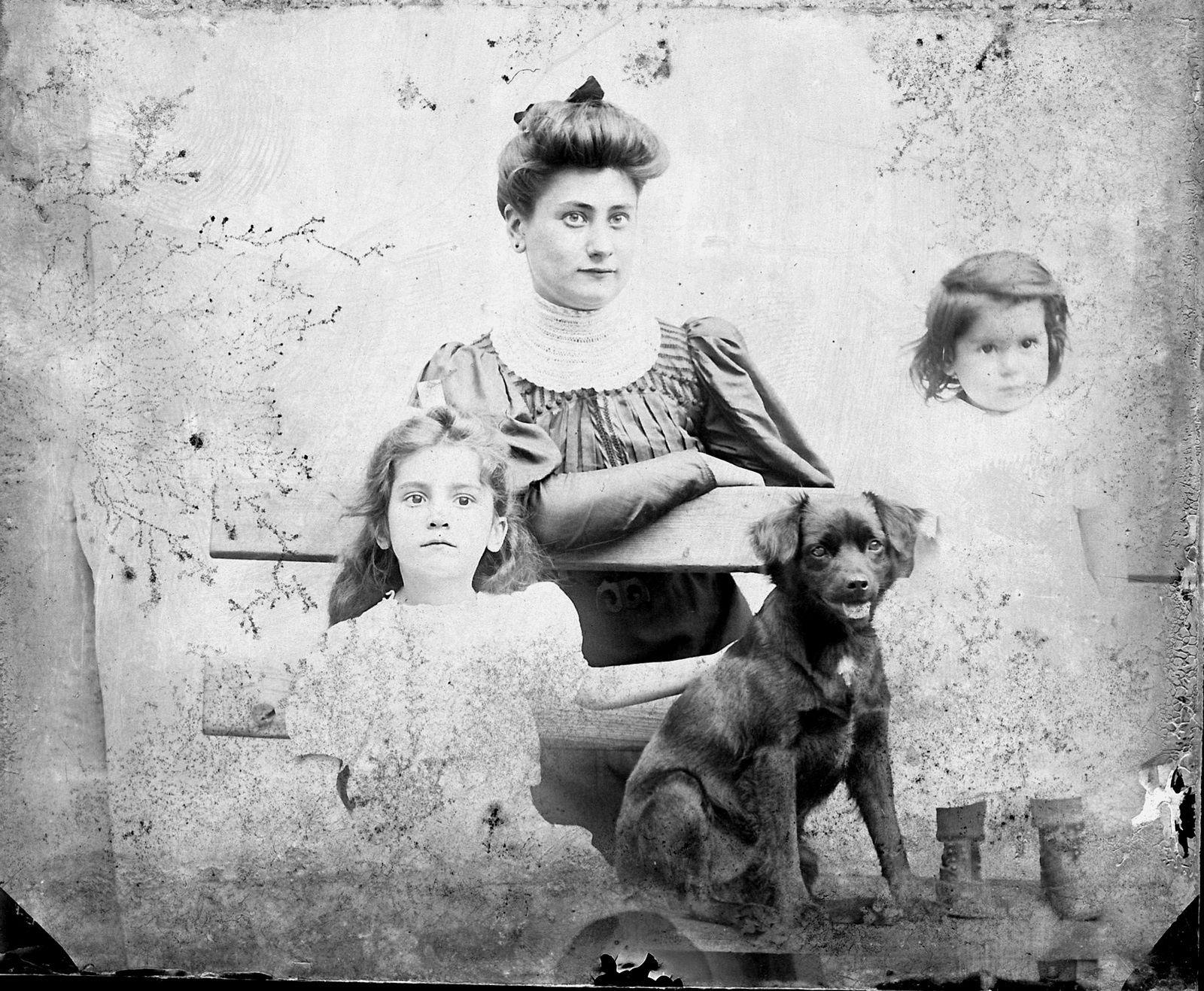 Photographies sur plaques de verre réalisées par mon grand père maternel, Etienne Ferlat en 1918