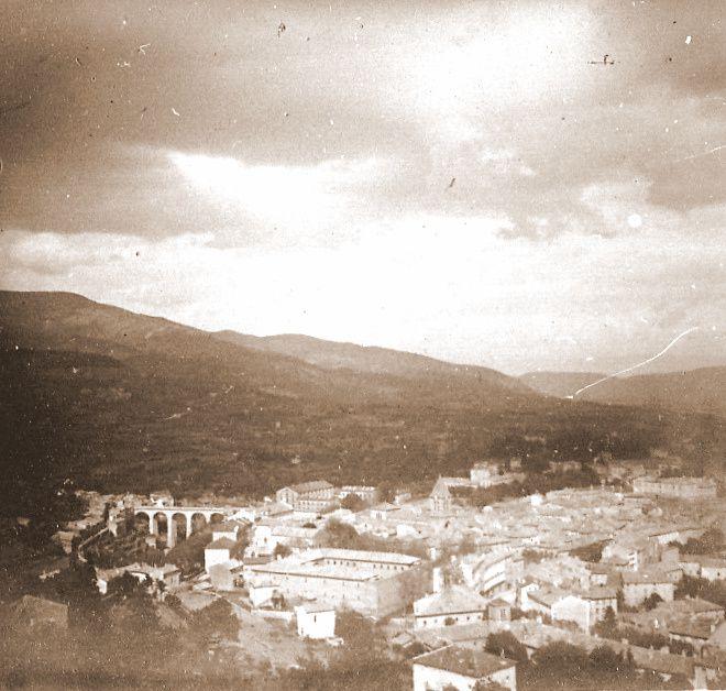 Photos sur plaques de verre d'Etienne Ferlat Privas Années 1930