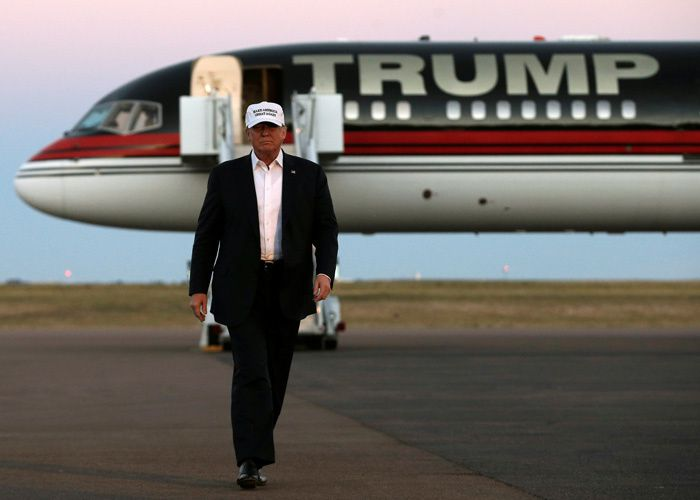 Le républicain Donald Trump lors d'un arrêt au Colorado le 17 septembre 2016.   (CNS photo/Mike Segar, Reuters)