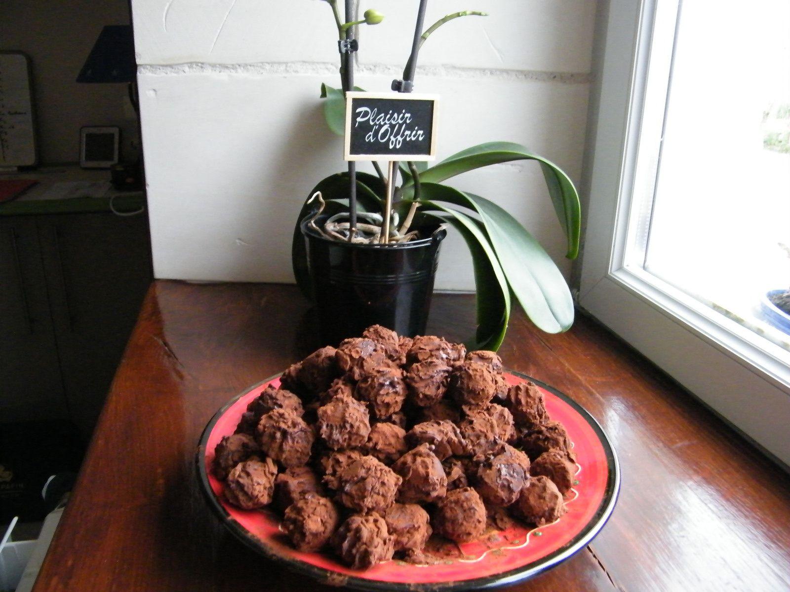 Truffes chocolat- caramel au beurre salé