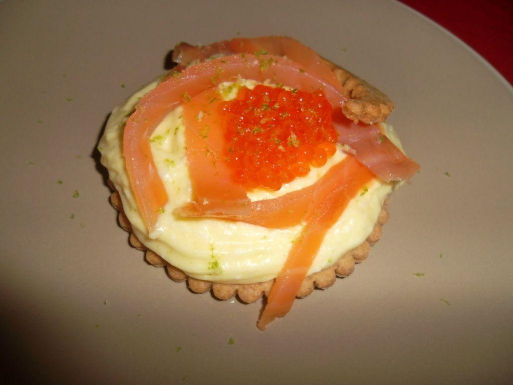 Tartelettes sarrasin, mousse d'asperge et saumon fumé !
