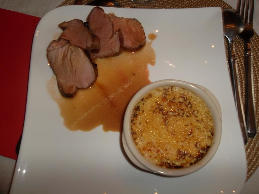 Filet mignon de porc cuisson basse température et sa crème brûlée d'endives