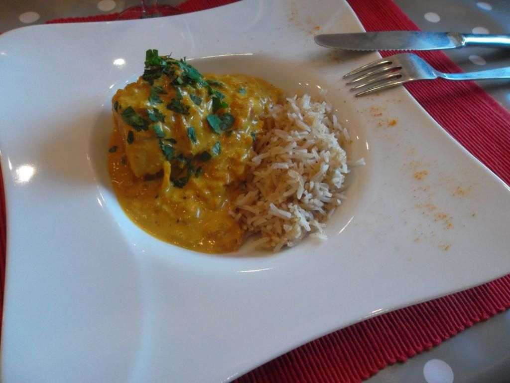 Curry de lotte au lait de coco et gingembre