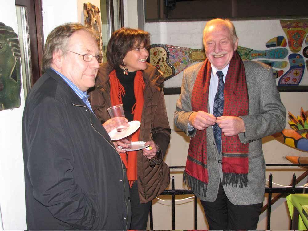 Jacques Bourgaux, son épouse Loretta Cappellini et Josy Dubié
