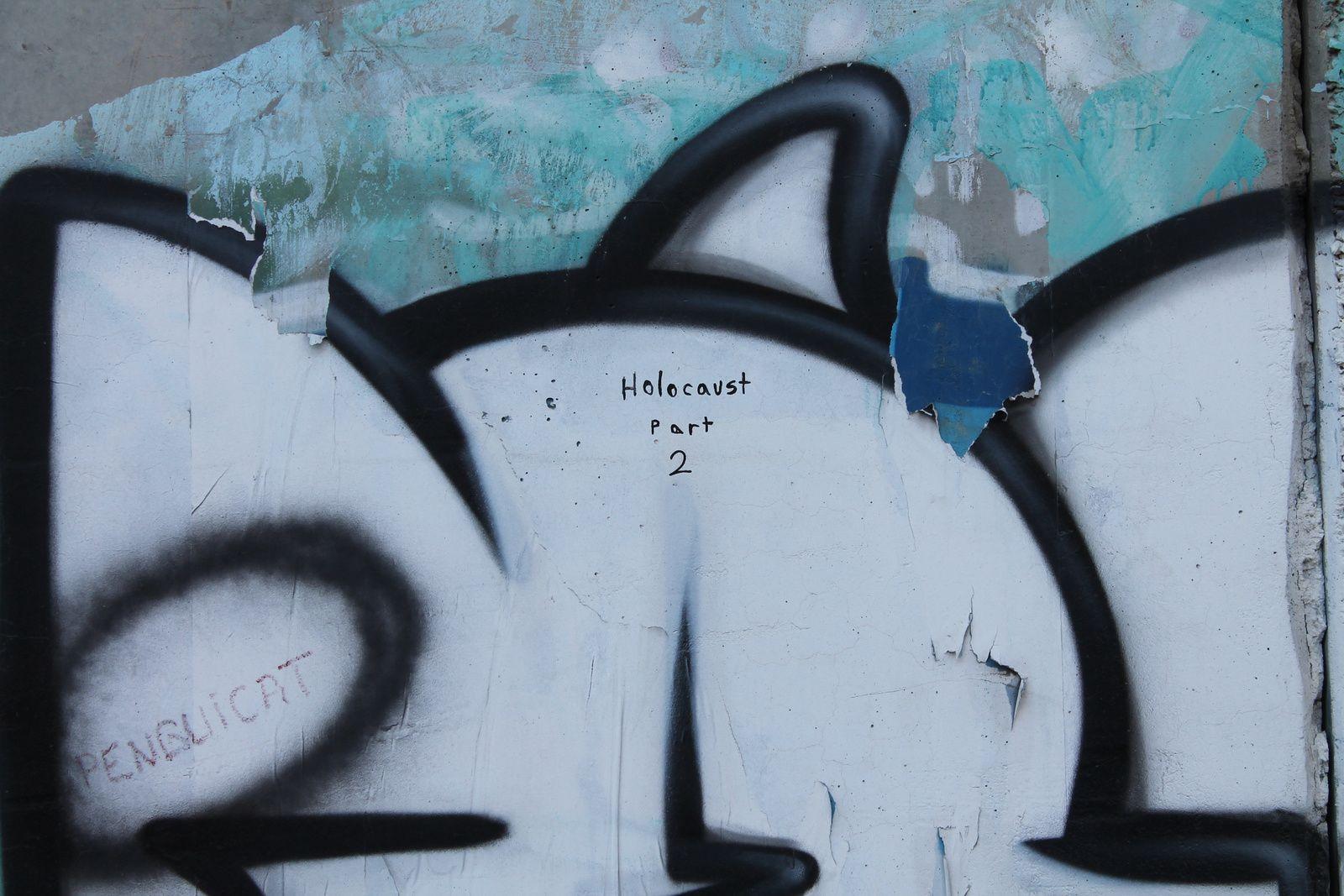 Le mur est aussi un espace pour les artistes.