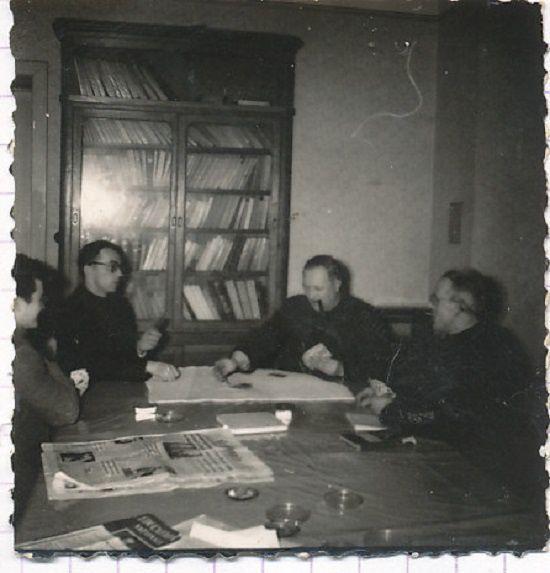 Jean Poncy avec ses confrères  à Cuvry Moselle