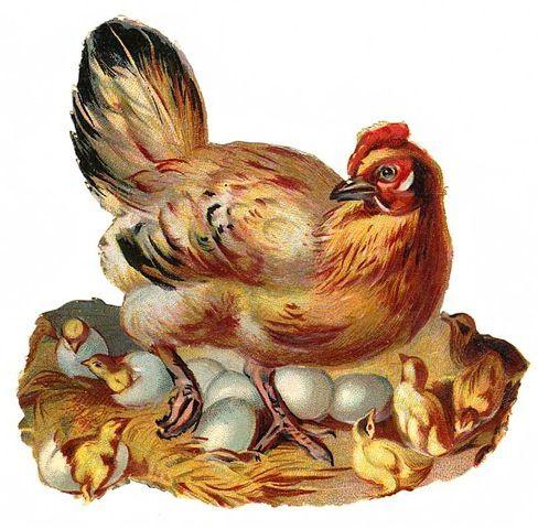 Jolis chromos  de Pâques trouvés sur la toile.