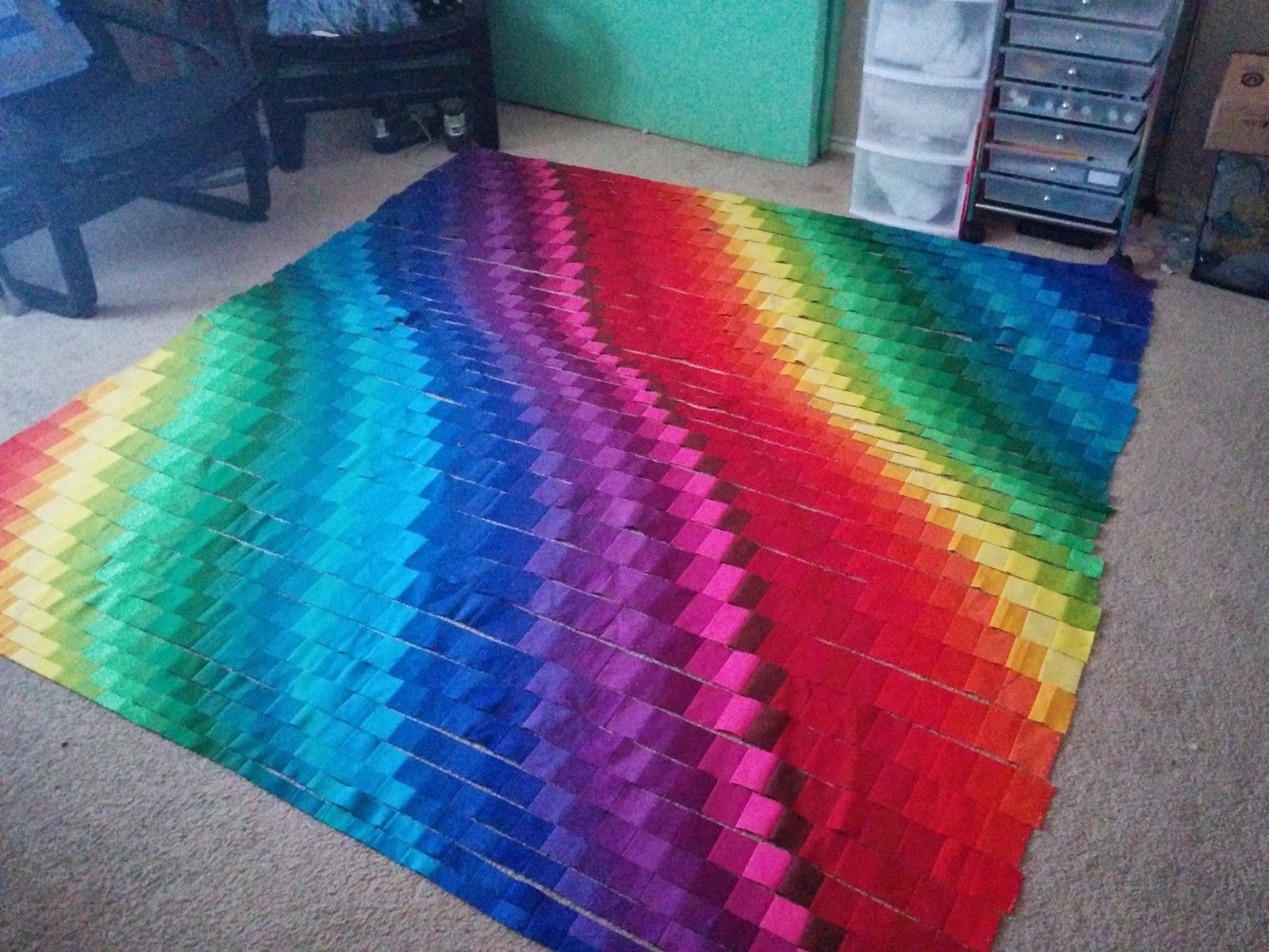 Un quilt Bargello: tutoriel.