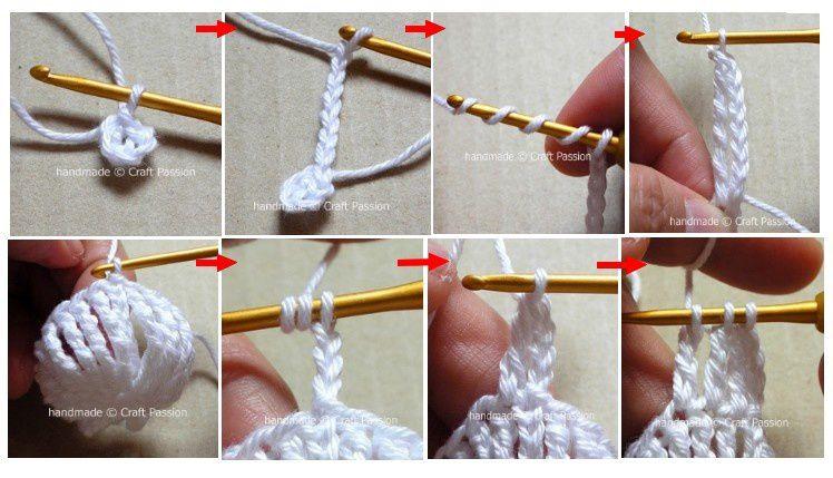 Fleurs de yo-yo à tricoter
