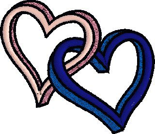 Broderies 248... cœurs.  Bonne Saint-Valentin !