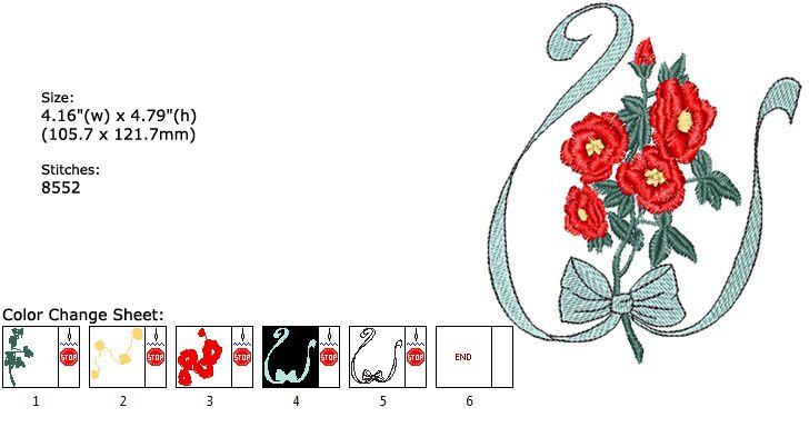 Broderies machine 251: ABC fleuri etc...