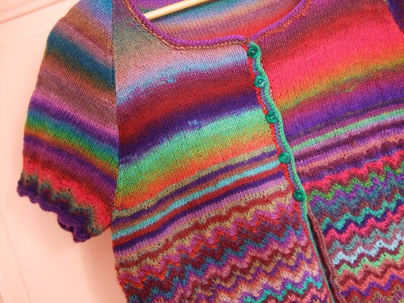Temps pourri...tricots finis
