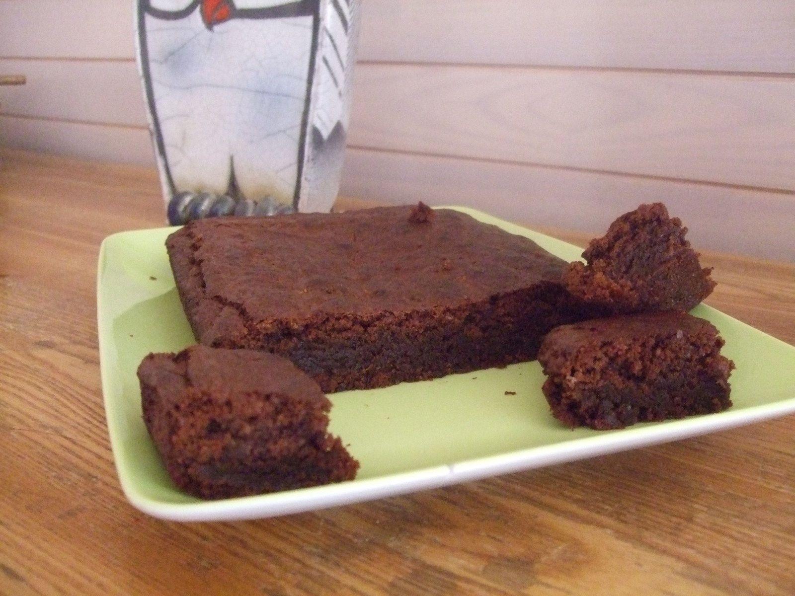Brownie fondant au chocolat et pralin