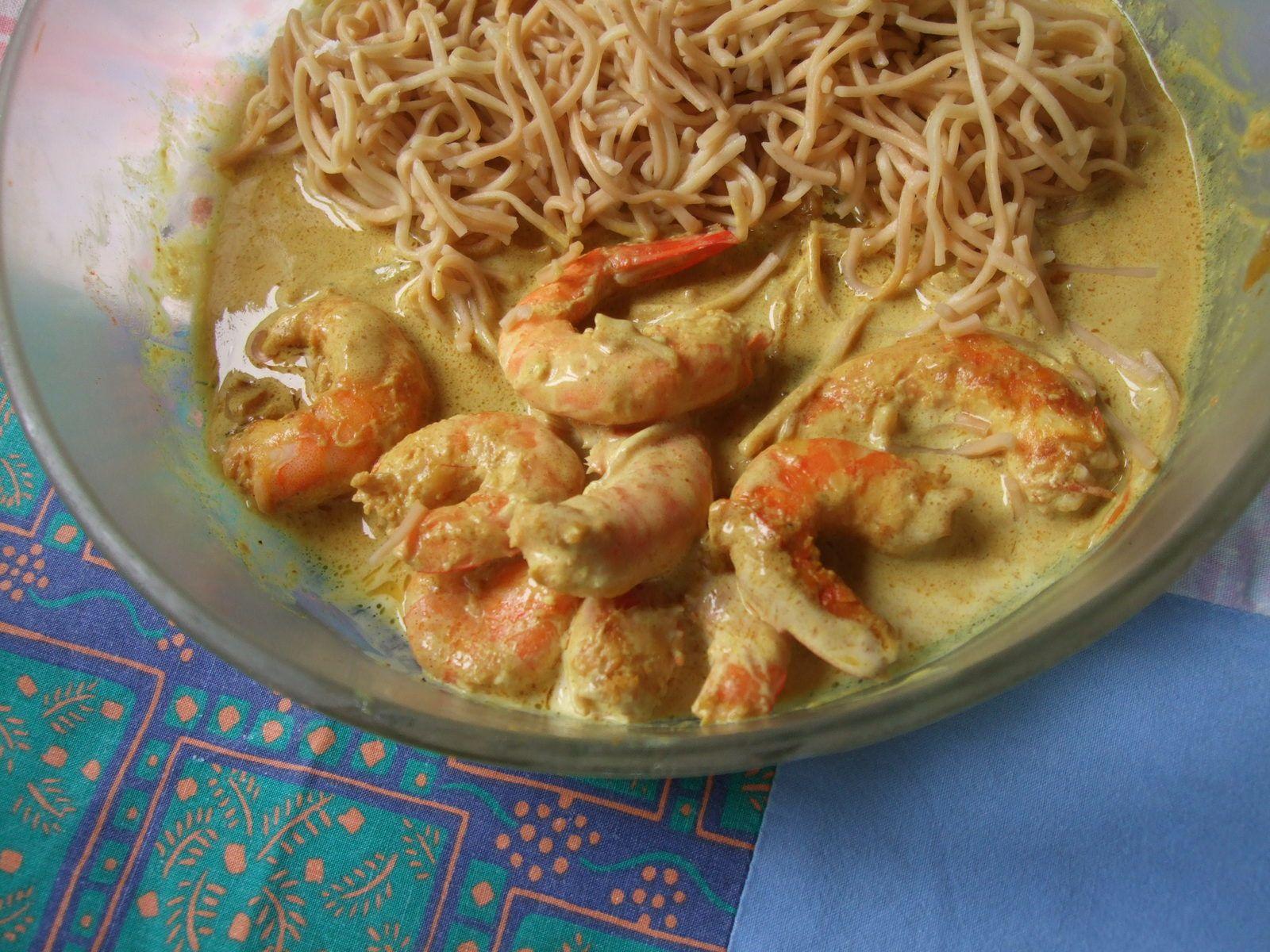 Crevettes sauce Satay pour un Tour en Cuisine