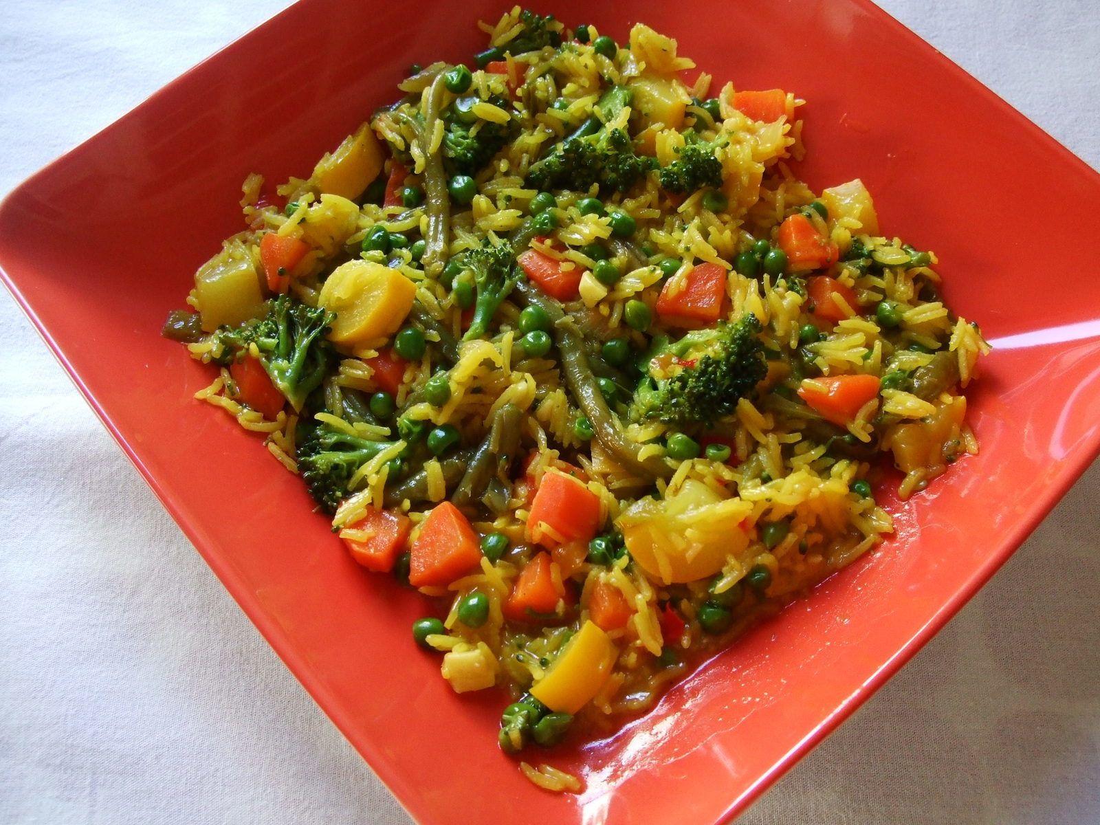 Riz aux légumes ou paella végétarienne
