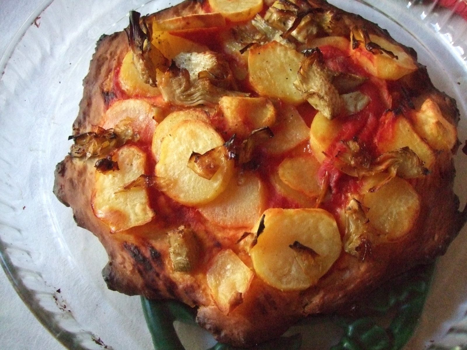 Pizza aux pommes de terre