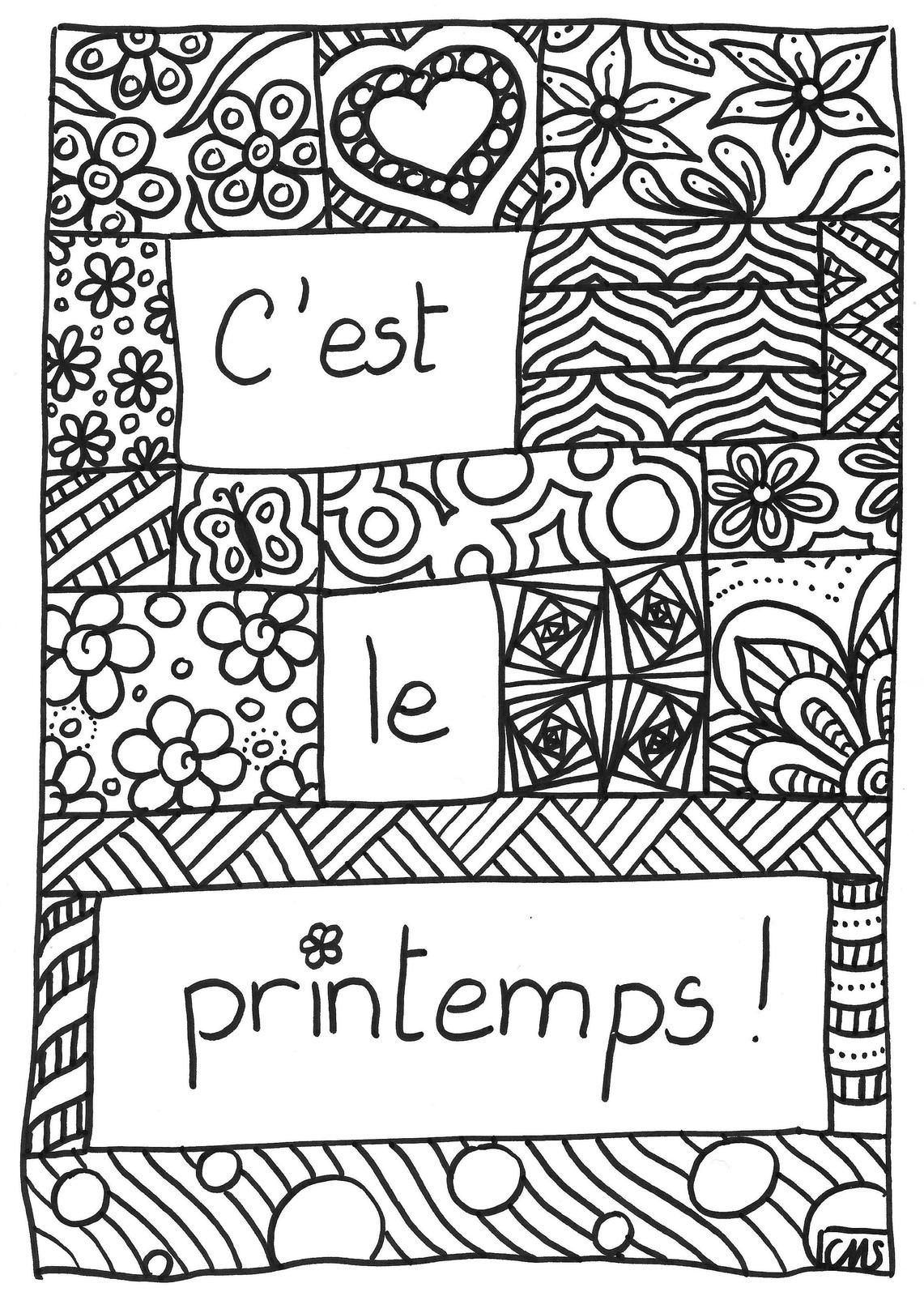Coloriage c 39 est le printemps crapouilleries for Art et decoration pdf
