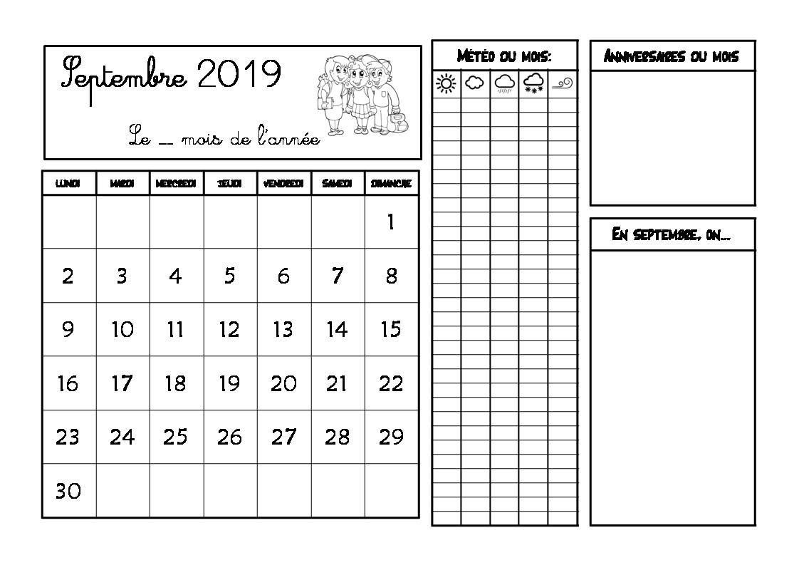 Evaluation Calendrier Ce1.Calendrier 2019 2020 Crapouilleries
