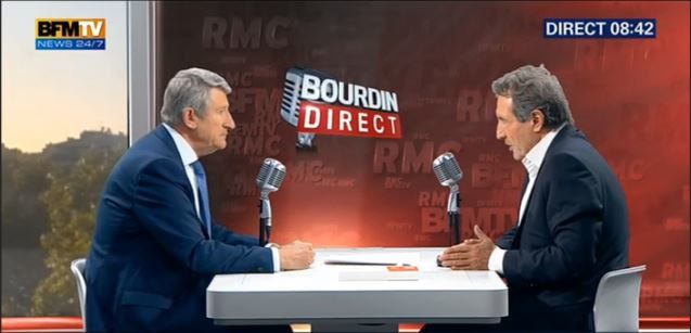 Philippe de Villiers face à Jean-Jacques Bourdin en direct