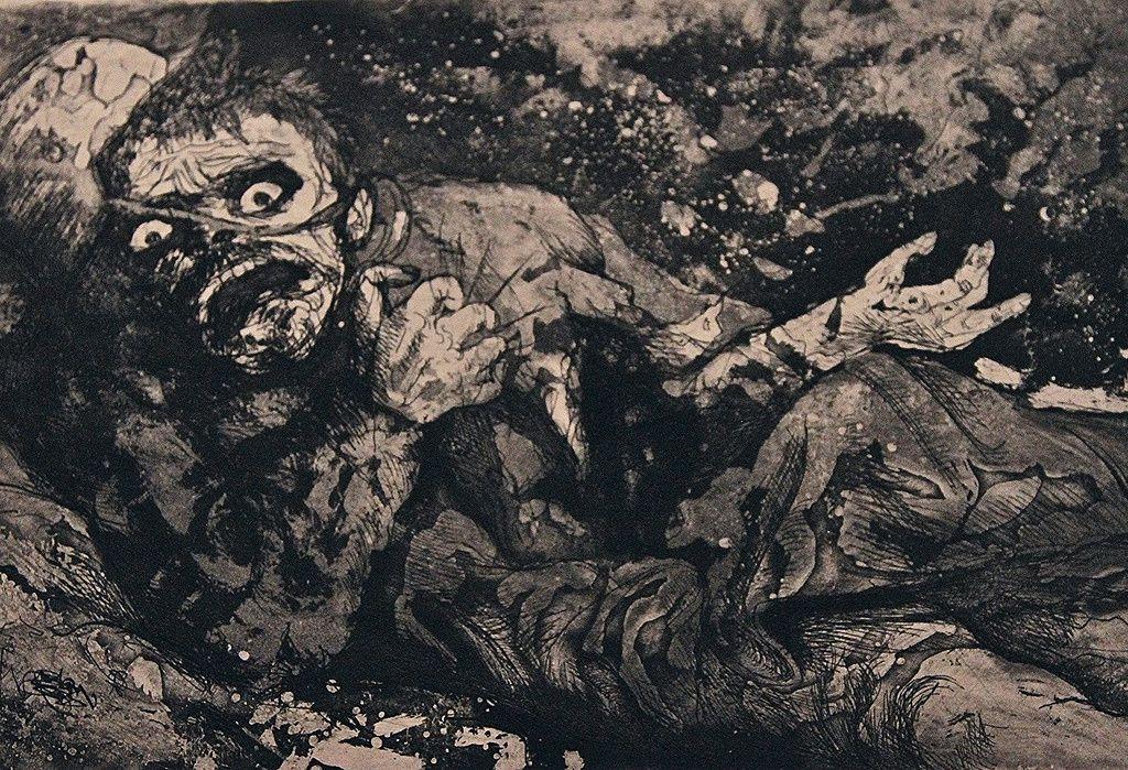 Otto Dix, Disparu, automne 1916, Bapaume, La Guerre (1924). Moma, New York, USA.