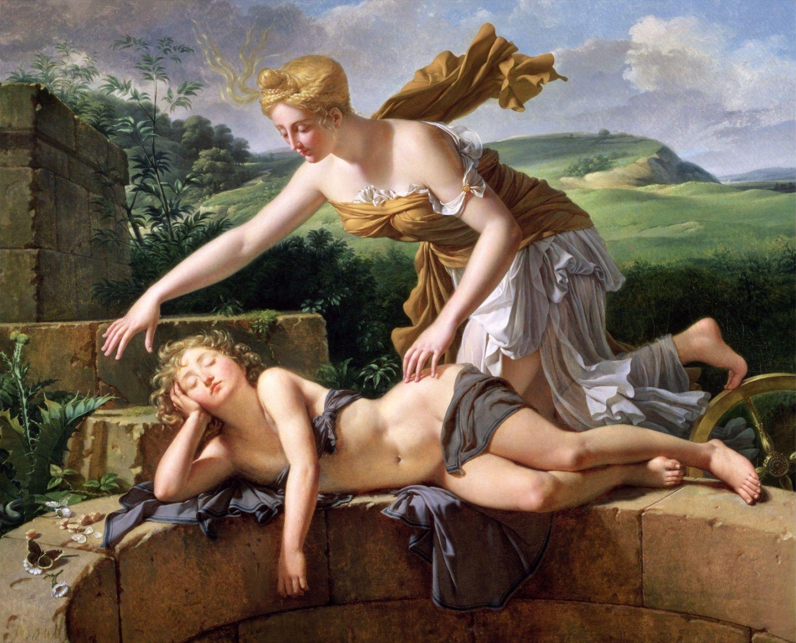 Pierre Bouillon (1776-1831), L'Enfant et la Fortune, 1801, Musée des Beaux-Arts de Rouen, France.