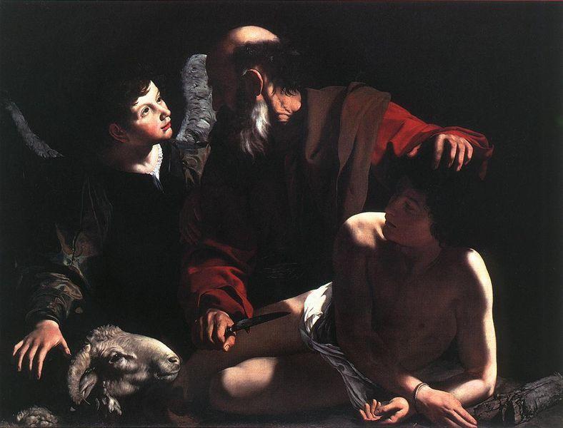 Le Sacrifice d'Isaac par Abraham de Le Caravage, 1597-1598, Piasecka-Johnson Collection, Princeton, USA.