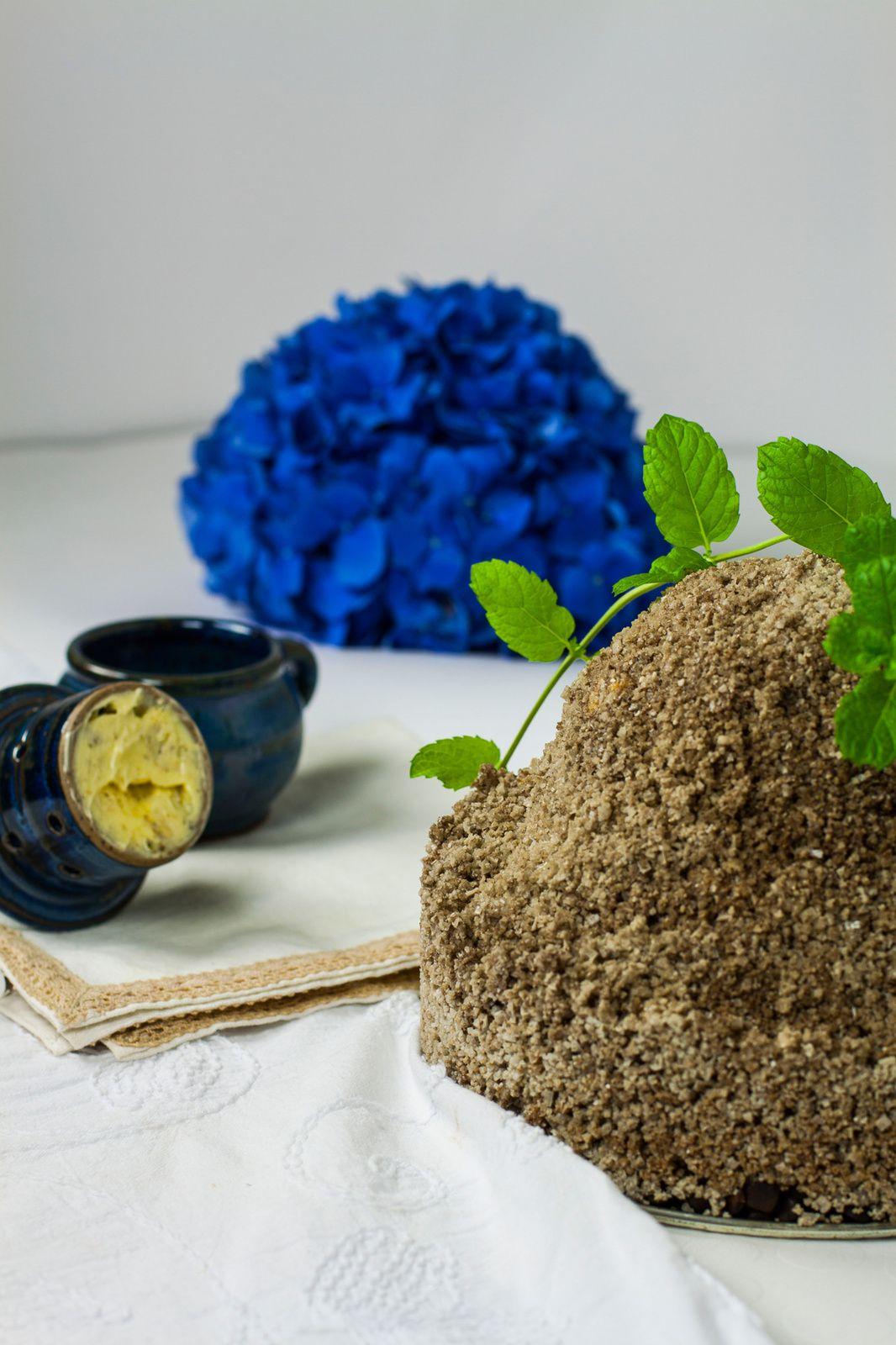Céleri rave - en croûte de sel - beurre floral aux épices