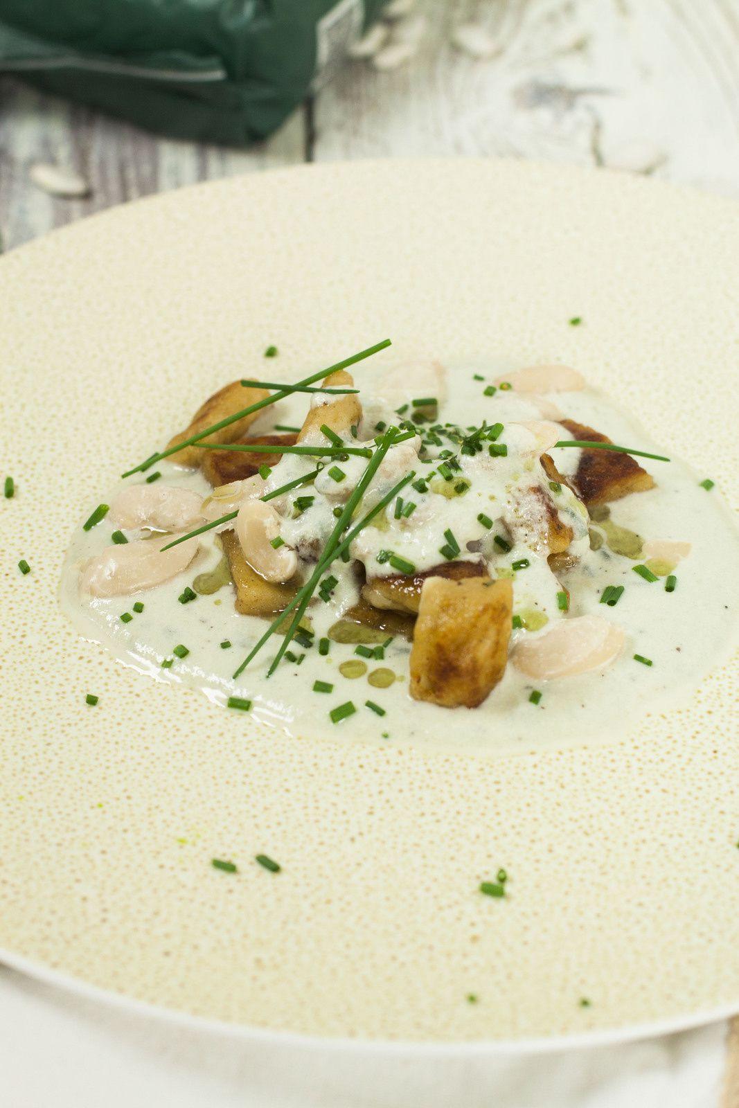 Gnocchi de haricots tarbais - crème de roquefort