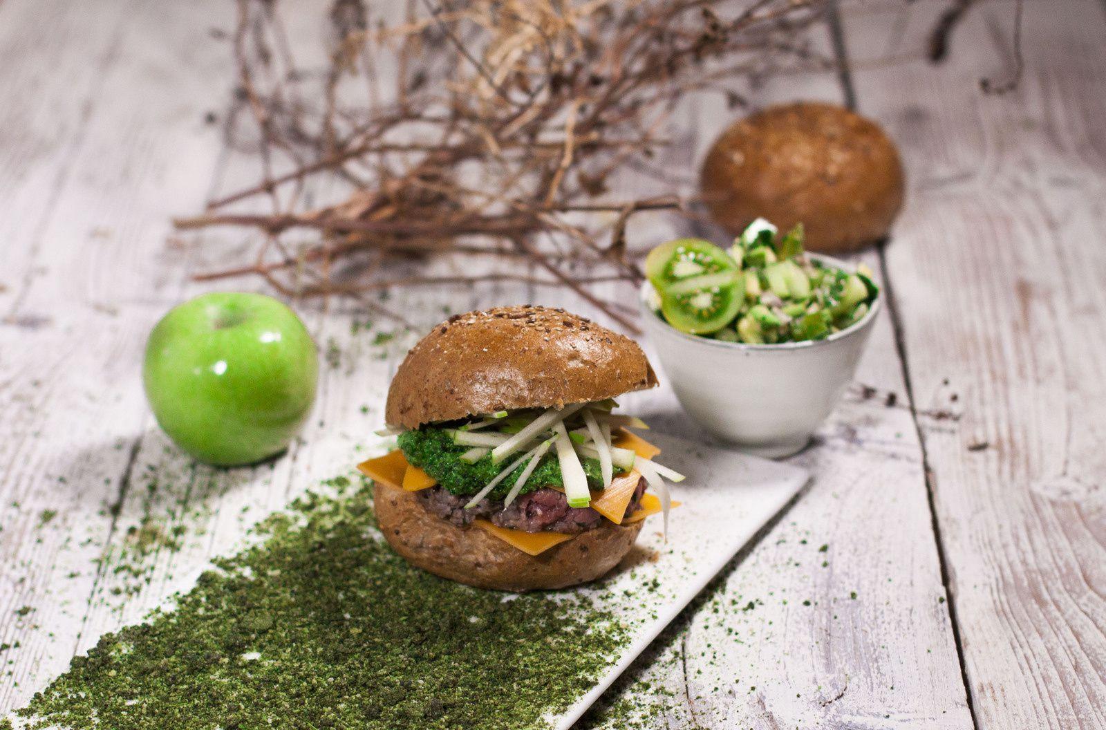 Irish burger - pomme et salsa verde