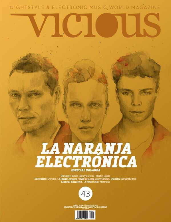 Tiësto, Nicky Romero y Martin Garrix: Cover for Vicious Magazine