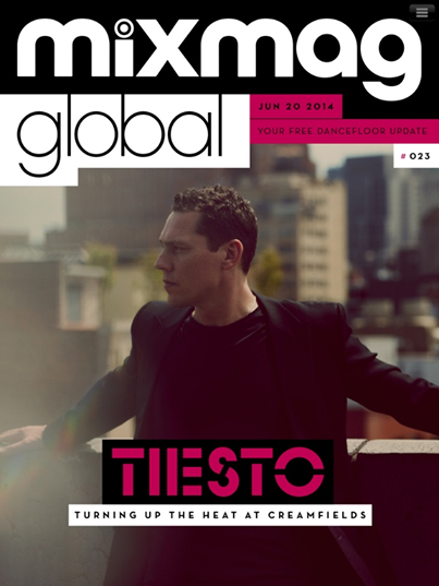 Tiësto cover for MixMag - 20 june 2014