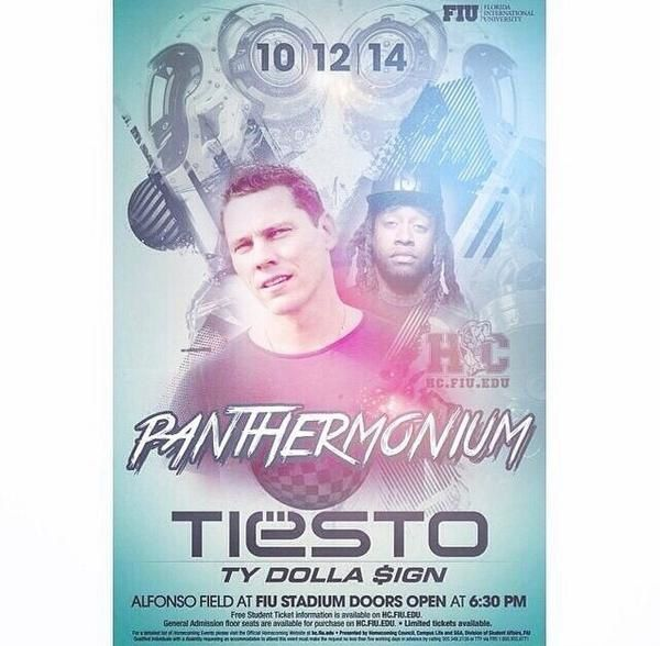 Tiësto photos: FIU Panthermonium - Miami, FL 12 october 2014
