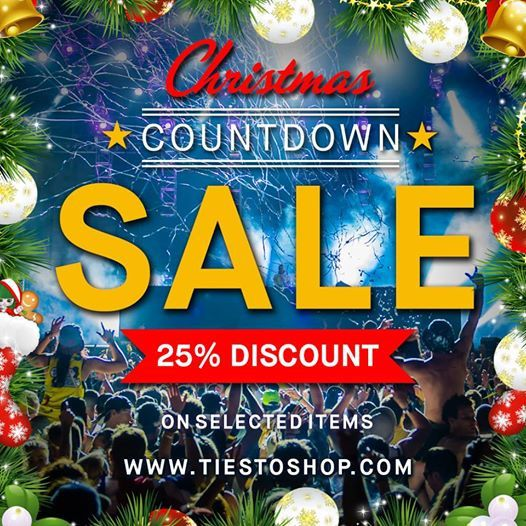 Tiëstoshop - Christmas Countdown, 25% discount #tiesto