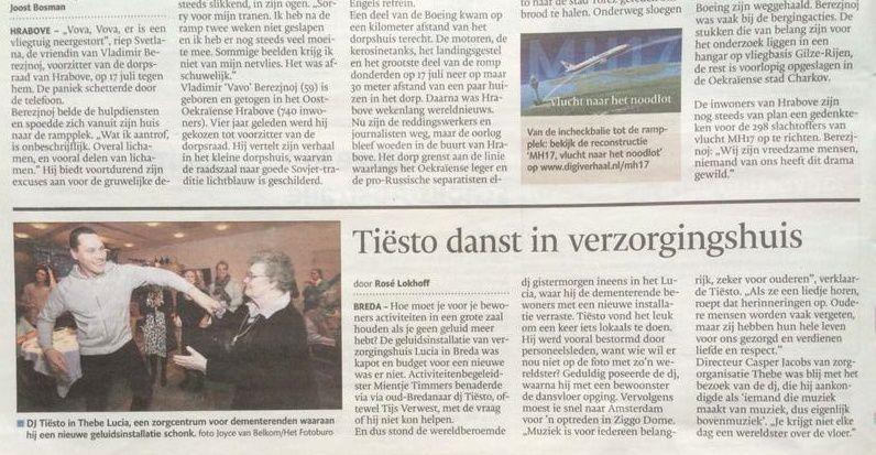 Tiësto vidéo | residential care center Lucia at Breda 2014