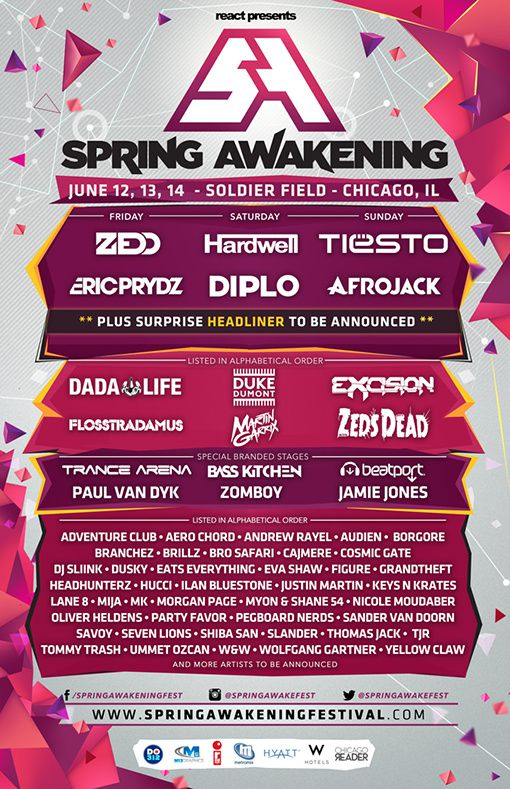 Tiësto photos | Spring Awakening Festival | Chicago, IL - june 14, 2015