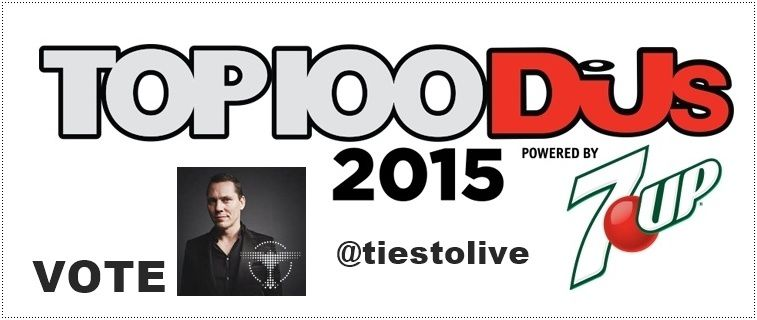 Top 100 Dj's 2015, Vote Tiësto now !!!