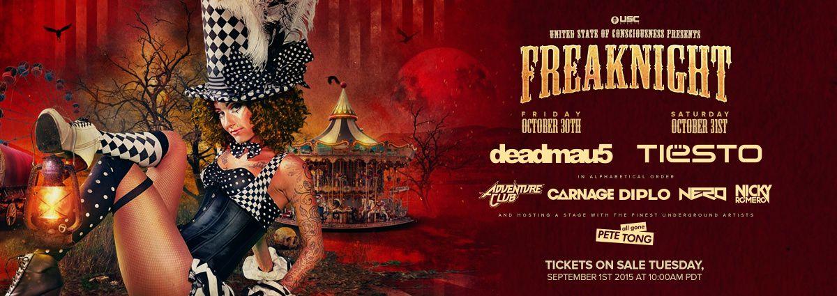 Tiësto photo | FreakNight Festival | Tacoma, WA - october 31, 2015