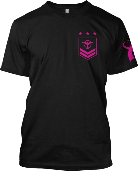 Tiësto - New t-shirt - Pink ribbon charity #‎breastcancer‬