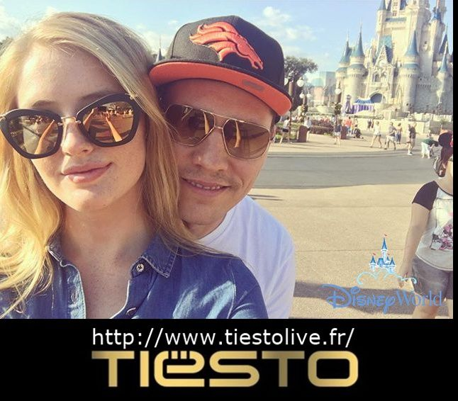 Tiësto and Annika Backes at Disney Magic Kingdom