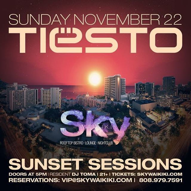 Tiësto photos | Sky Waikiki | Honolulu, HI - november 22, 2015