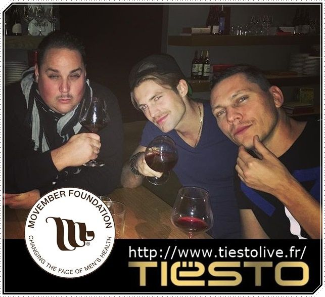 Tiësto support Movember Foundation Charity