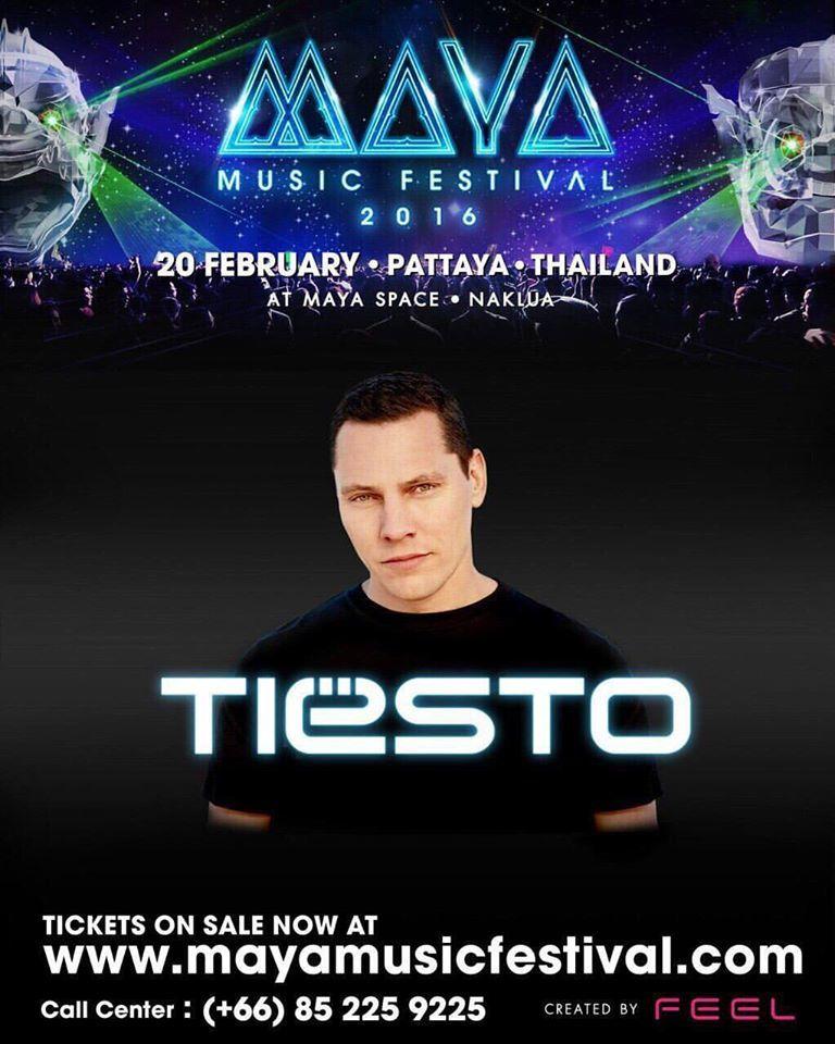 Tiësto photos | Maya Music Festival | Pattaya, Thailand - february 20, 2016
