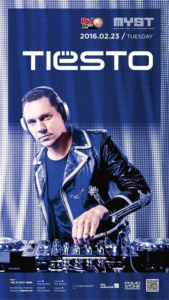Tiësto photos | Club Myst | Shangai, China - february 23, 2016