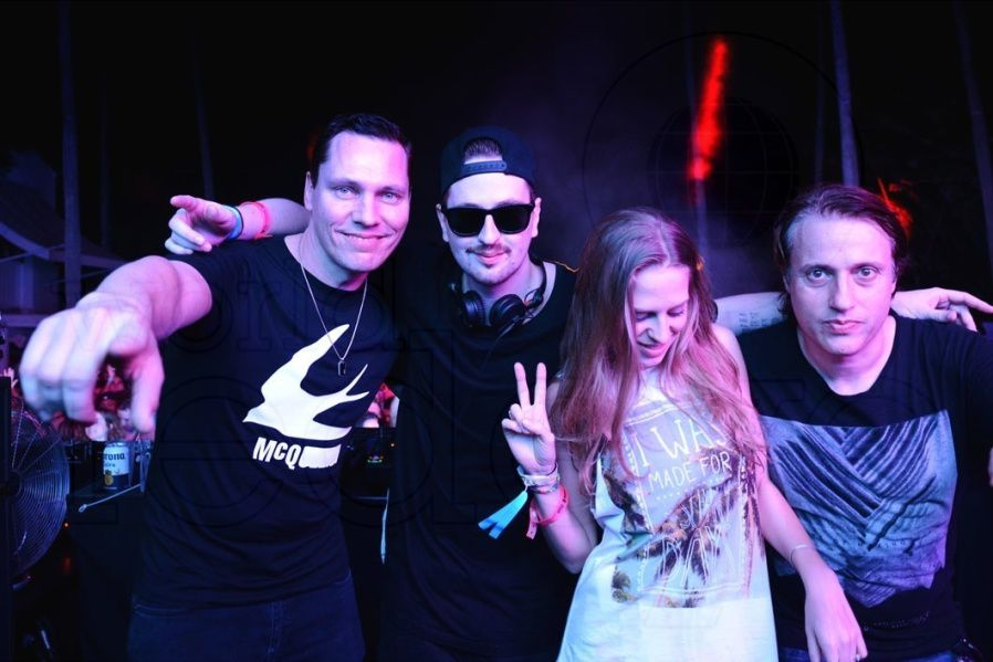 Photos Tiësto and Robin Schulz at Delano Beach Club - March 16, 2016