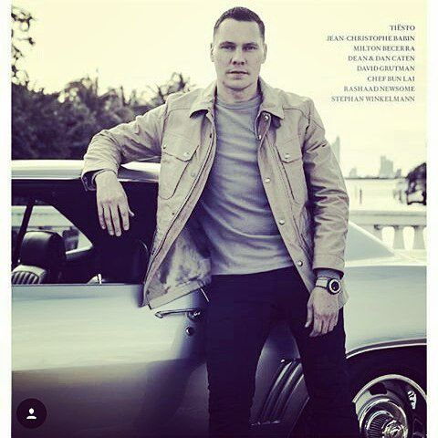Tiësto cover for Toys For Boys Magazine